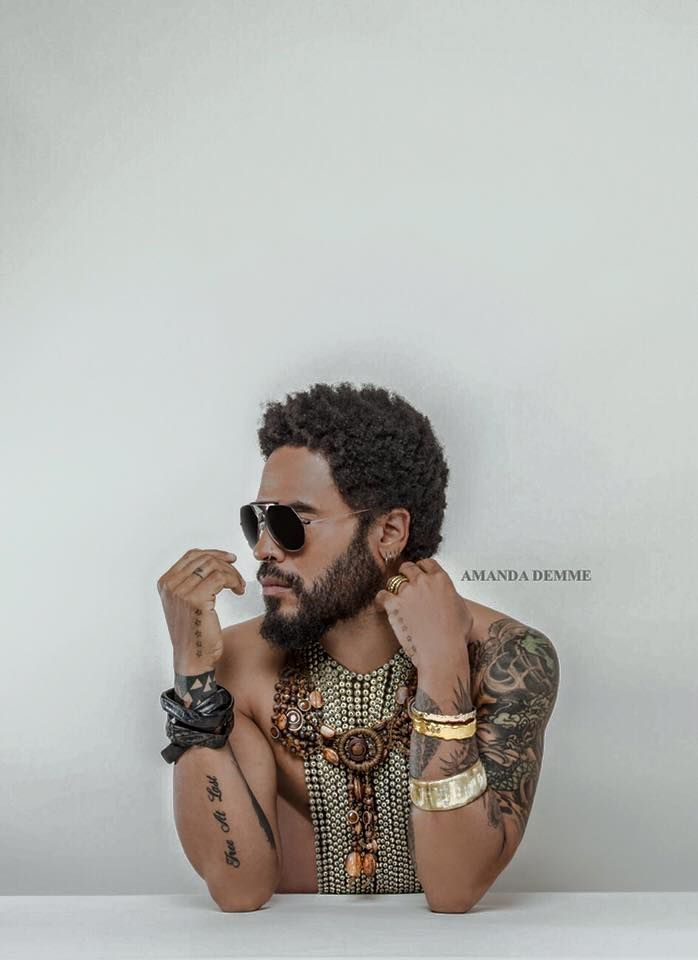 Mens Fashion: Love the #Accessories on Lenny Kravitz #bohemian Hipster Pinterest:@keraavlon