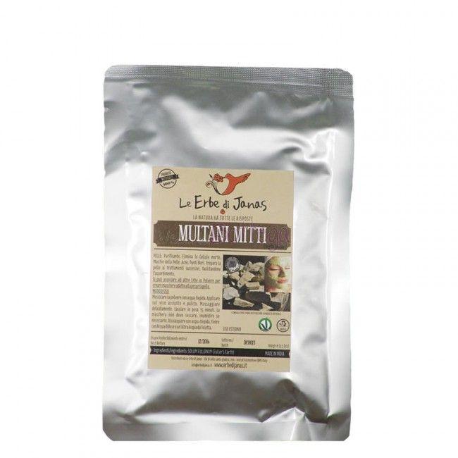 Multani Mitti 100% naturale Le Erbe di Janas purificante pelle