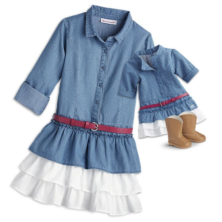 American Girl Western Chambray Outfit for 18-inch Dolls