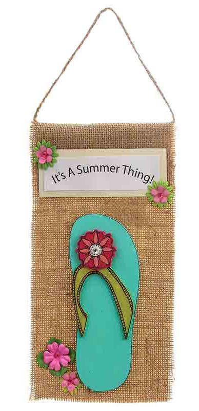 Nicole™ Crafts Flip Flop Sign #kids #craft