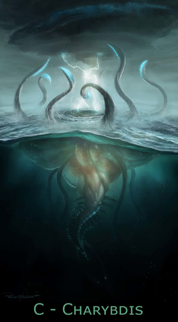 C is for Charybdis, Polina Hristova on ArtStation at https://www.artstation.com/artwork/D9dOR