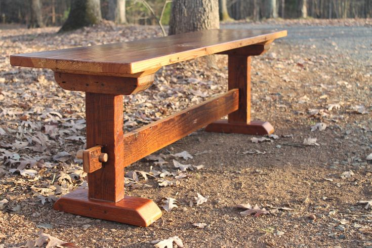Bench, Wood Bench, Rustic Bench, Reclaimed Wood Bench, Farmhouse Bench, Rustic Dining Bench, Rustic Wood Dining Bench, Trestle Style Bench by WeatheredBoardLLC on Etsy