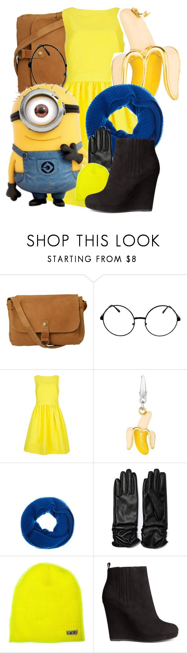 """""""Minion Outfit"""" by god-girl ❤ liked on Polyvore featuring Fat Face, Ted Baker, Warehouse, LULU, Neff and H&M"""