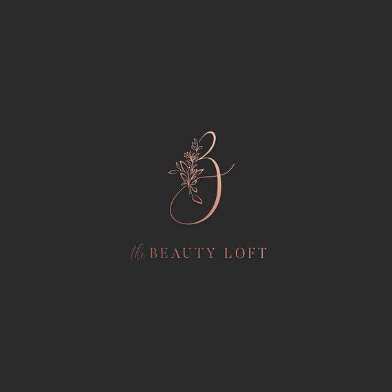 Custom logo design - Beauty salon logo Jewelrye logo Elegant logo Watercolor logo Make up logo Hairstylist logo Stylist logo Feminine logo