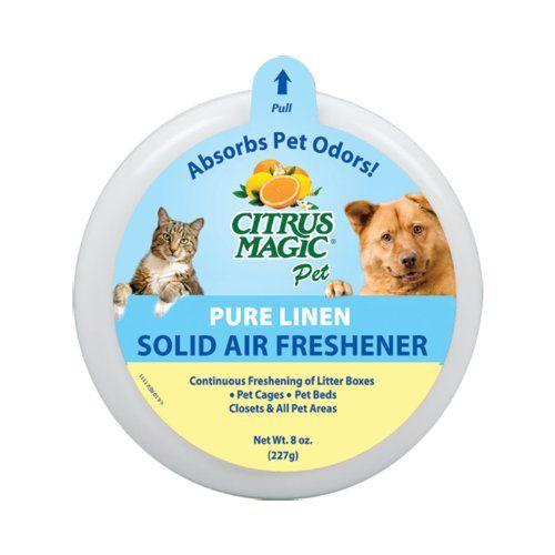 Aus der Kategorie Flecken- & Geruchsentferner  gibt es, zum Preis von EUR 82,58  Citrus Magic Pet Solid Odor absorber magisch absorbiert schlechte Gerüche, wie es erfrischt die Luft. Unsere einzigartige Formel ist ideal für die Verwendung an Boxen geeignet, Verwendung in Tierkäfigen, Hundebetten und alle anderen Bereiche, in denen Ihre Haustiere haben.<br/>