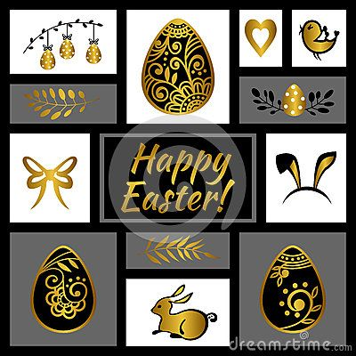 Easter greeting card. Happy Easter. Easter egg. Vector illustration