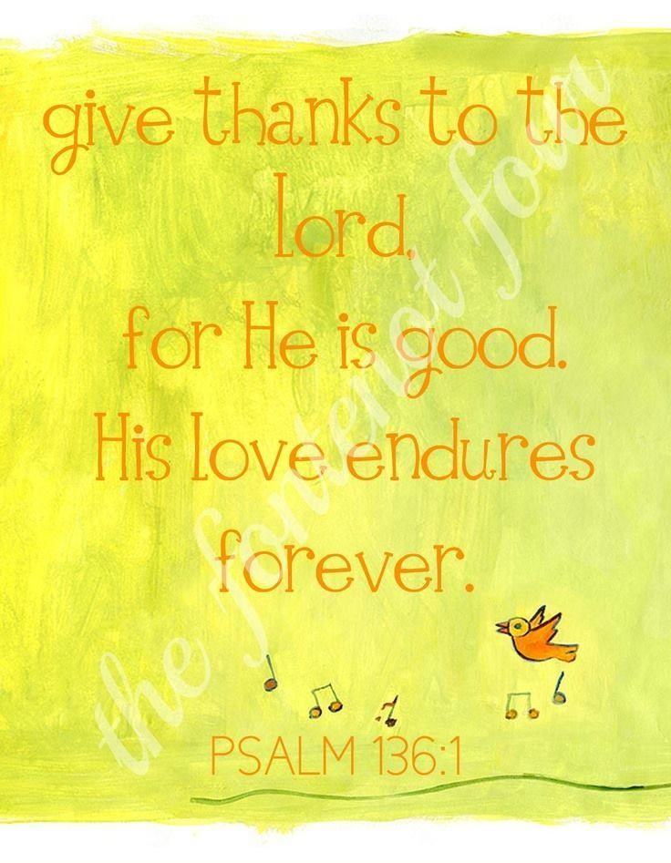 His love endures forever!!