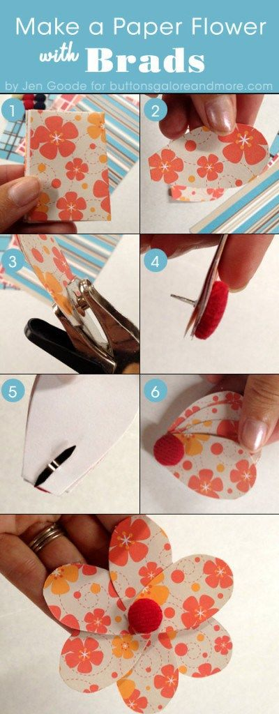 How To Use Brads To Make DIY Paper Flowers   DIY Tag