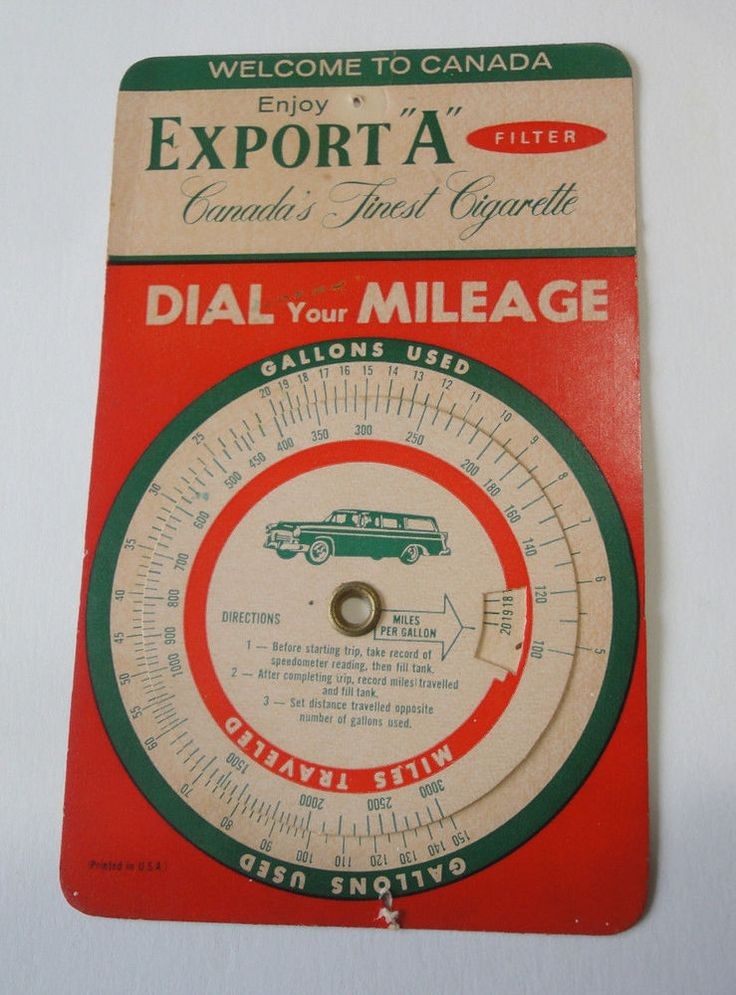 Export A Cigarettes Welcome To Canada Dial Your Mileage Card Vintage 1950's  #ExportAMacDonaldTobacco