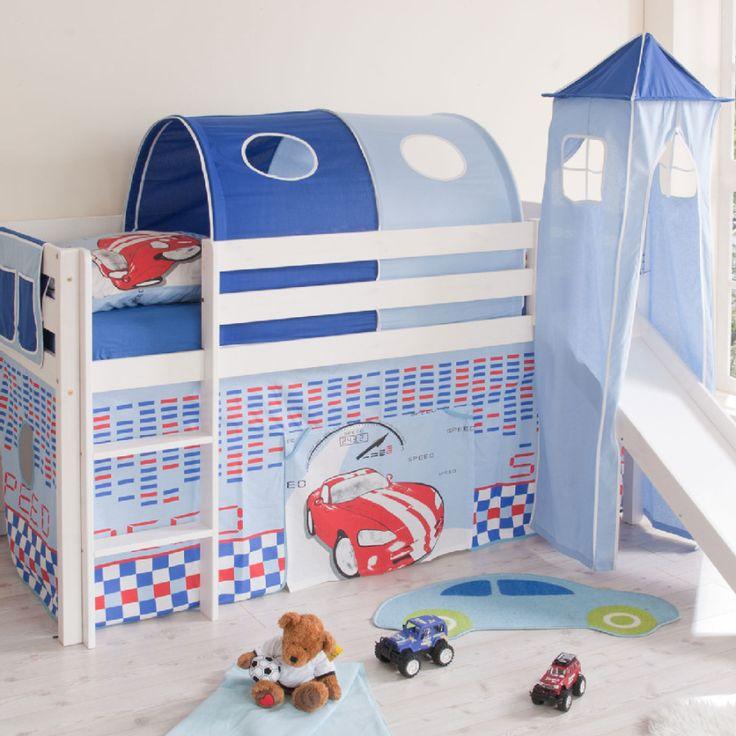 17 best images about hochbetten für kids on pinterest | cars ... - Kinderzimmer Blau Weis