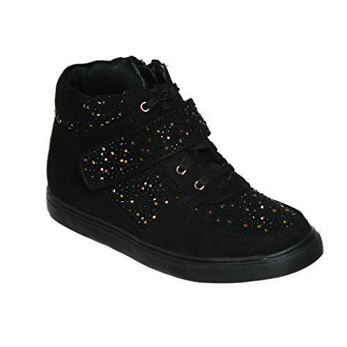 Women s High Top Lace up Fashion Sneakers With Rhinestone... https ... 243cffcca4