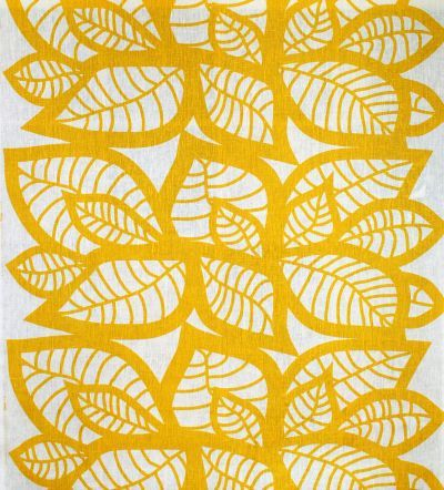 Mairo yellow Hosta fabric. Designed by Linda Svensson Edevint.