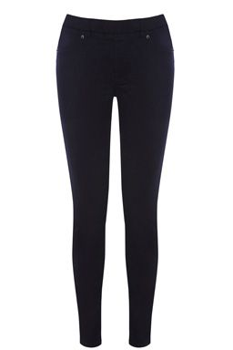 Skinnies with the feel of a legging; these stretch jeans feature a super-skinny fit with no fly, or front pockets ensuring your comfort and a streamlined shape; finished with two flatteringly-placed back pockets. £28.00