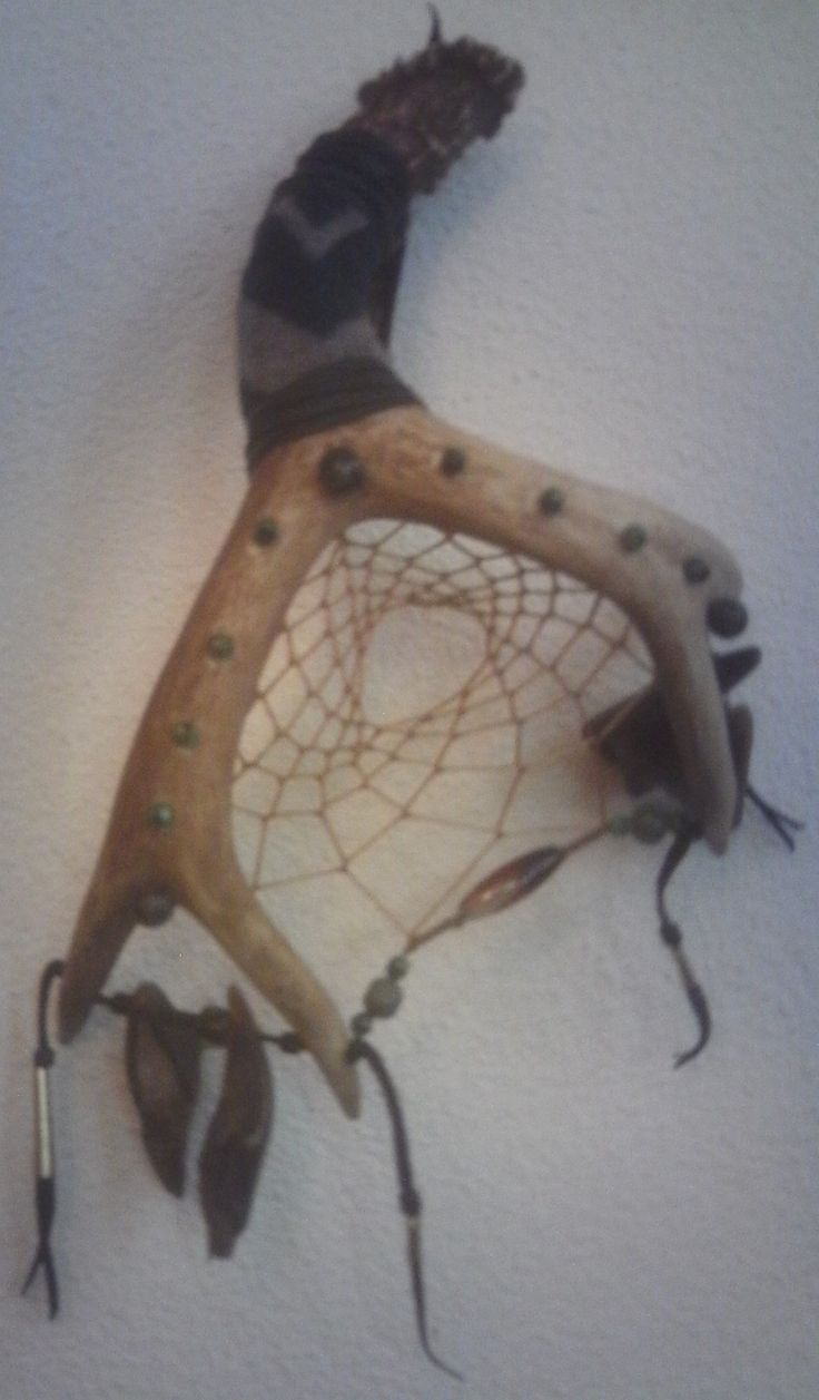 Deer Toe shaker rattle with one Dream Catcher Web, on Deer ...