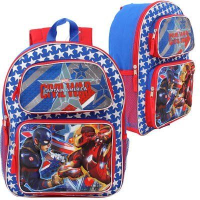 Marvel Captain America Civil War 3D Pop Up 16' Backpack. #Marvel #Captain #America #Civil #Backpack
