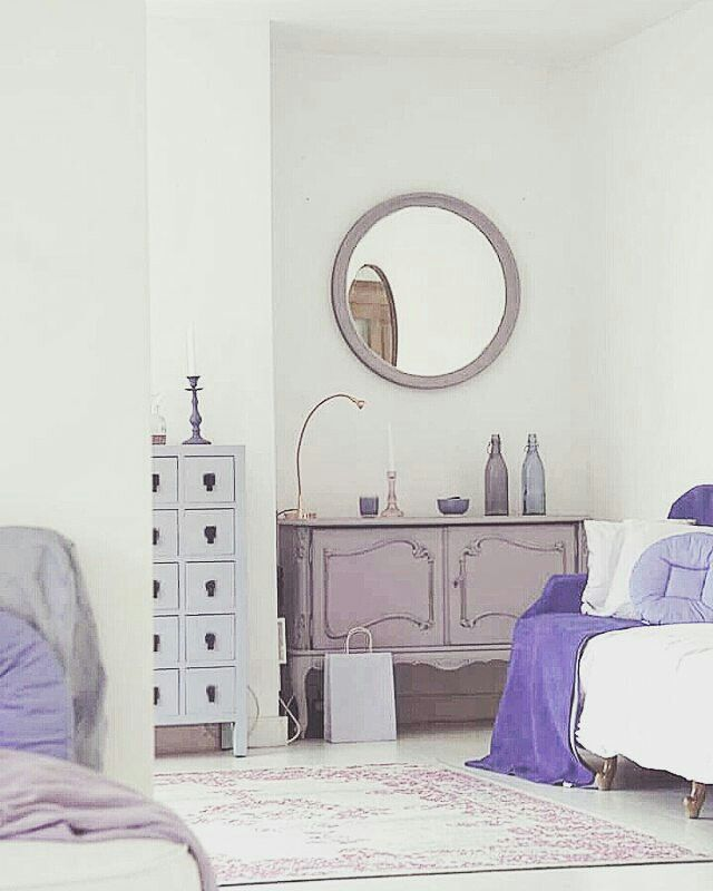 Home decor. Dusty pink and lavender living room.Pastel decor.Annie Sloane Chalk Paint.Emile chalk paint.Louis Blue chalk paint.