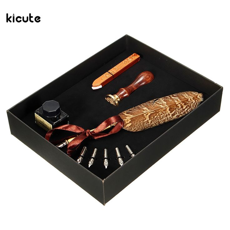 Cheap box create, Buy Quality gift box flower directly from China box gift packaging Suppliers: Excellent Antique Quill Feather Dip Pen Writing Ink Set Stationery Gift Box with 5 Nib Wedding Gift Quill Pen Fountain P