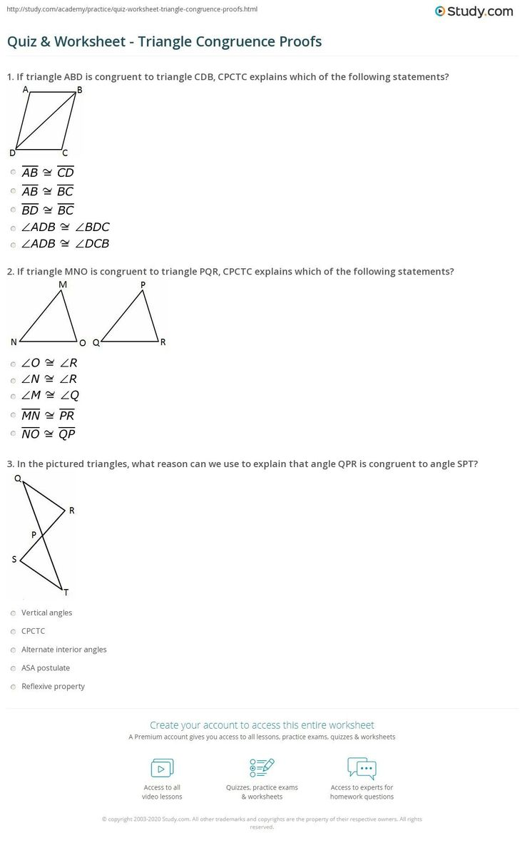 Hypotenuse Leg theorem Worksheet 30 Triangle Congruence ...