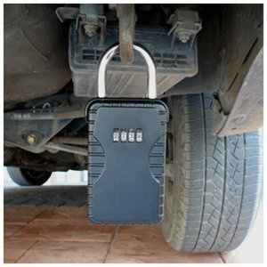 These are hard to find, and very useful for swimmers. Frostfire Mooncode 1555 Portable Key Storage Security Lock: Amazon.co.uk: DIY & Tools