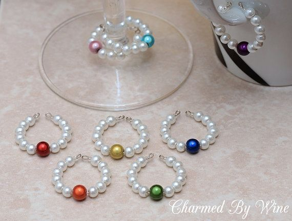 Swarovski Pearl Wine Charm Set by @Mary (Charmed By Wine) via #Etsy