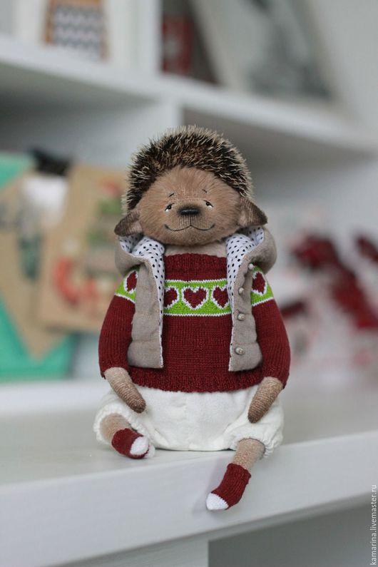 Teddy hangehog toy / Мишки Тедди ручной работы. Ежик. Марина. Интернет-магазин Ярмарка Мастеров. Ежик, тедди ежик, текстиль