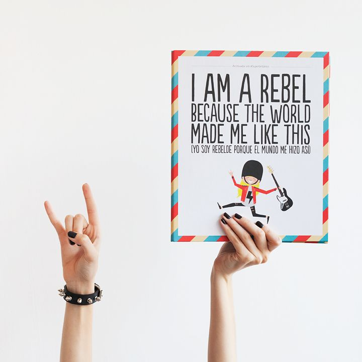 ¡Yo soy rebelde porque el mundo me hizo a lo #Superbritánico!