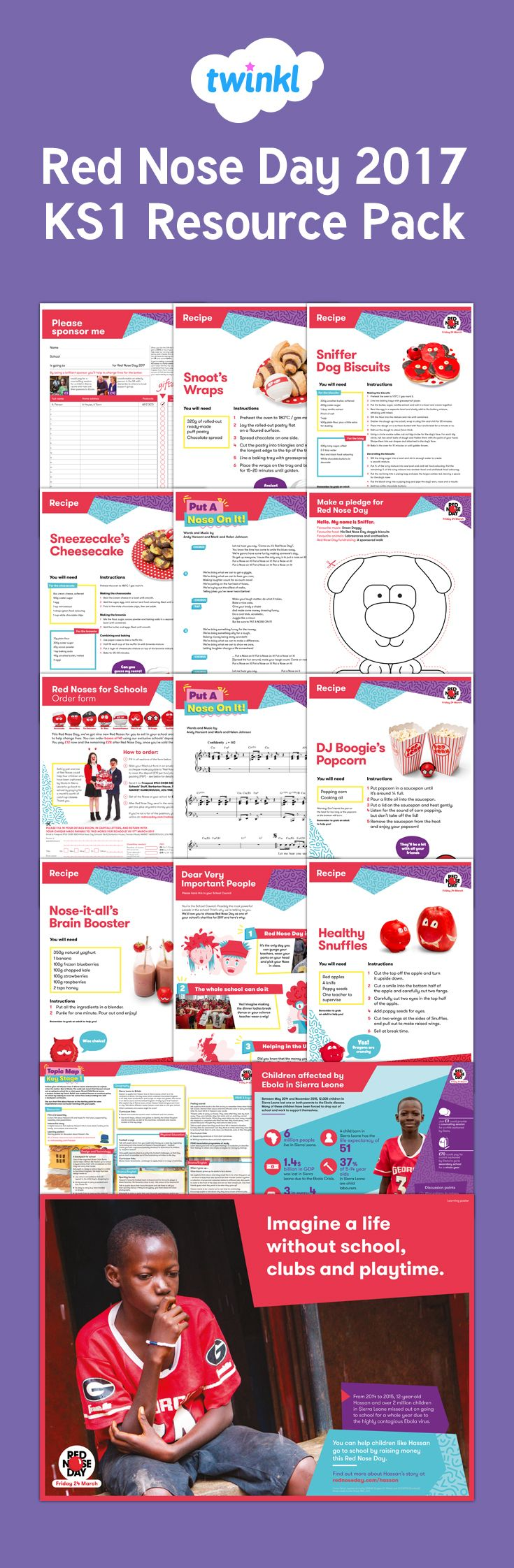 Red Nose Day 2017 Primary Resource Pack - This pack has loads of fab fundraising ideas and learning resources for your class this Red Nose Day.