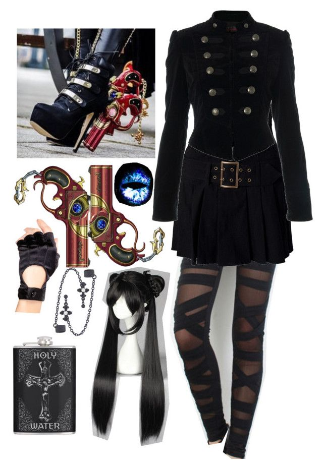 """""""Bayonetta hellsing"""" by fantasy2fiction ❤ liked on Polyvore featuring Miss Selfridge and Leg Avenue"""