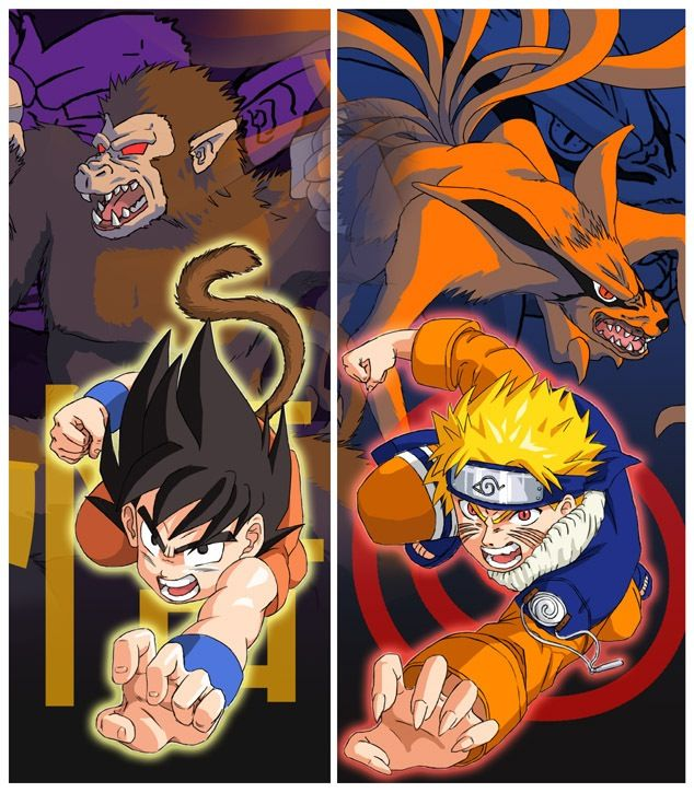 dbz vs naruto kid goku can beat naruto