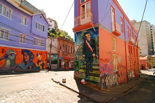 Street art à Valparaiso, Chili