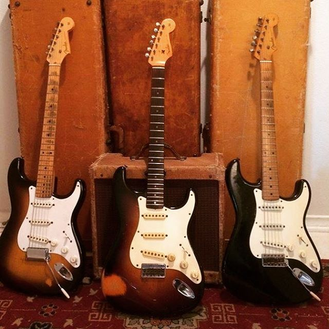 Enjoy your #straturday - the classic two tone, three tone and black.  Willie Smith. #stratocaster #strat #fender #fenderguitar #fenderstratocaster #guitar #guitarra
