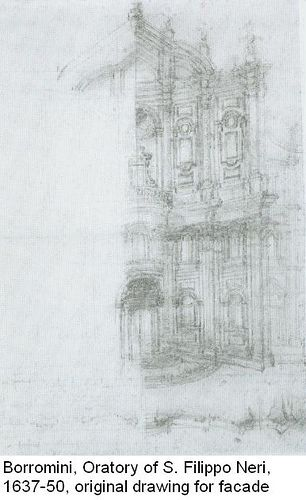 Borromini, Original Drawing for the Facade of Oratory of S. Filippo Neri | Flickr - Photo Sharing!