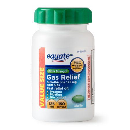 equate extra strength gas relief simethicone softgels 125 mg 250
