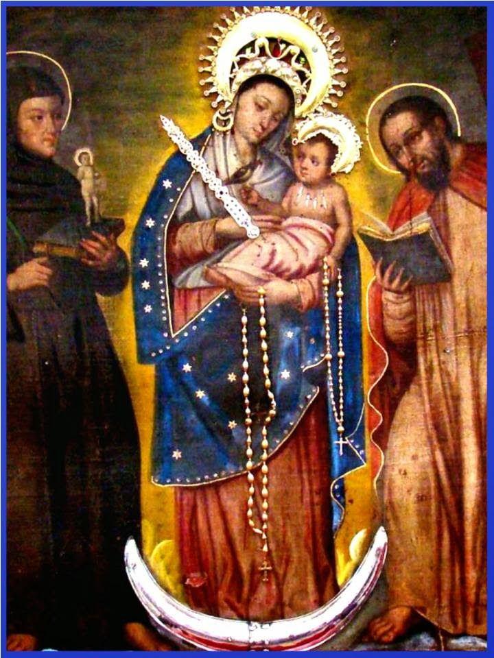 ¡Oh Santa Madre!  Virgen del Rosario de Chiquinquirá,  te bendecimos, te invocamos, te veneramos,  bajo tu patrocinio nos acogemos  y a...
