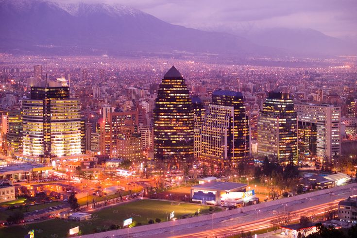 Pictured is Santiago, the capital of Chile. During Spain's voyages into the new world, this city was founded in 1541. It is located in central Chile and has a population of approximately 5.5 million. To accommodate for this, highways and metro systems were established. The city sits near the base of the Andes mountains, so one can see the beautiful mountain range well from the city. #1A