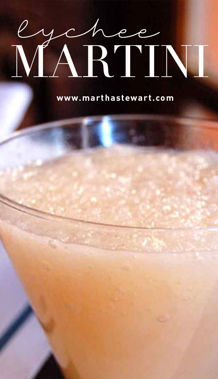 Lychee Martini | Martha Stewart Living - Try this tasty cocktail, courtesy of Graffiti Food and Wine Bar's Jehangir Mehta, when you're in the mood for a treat.