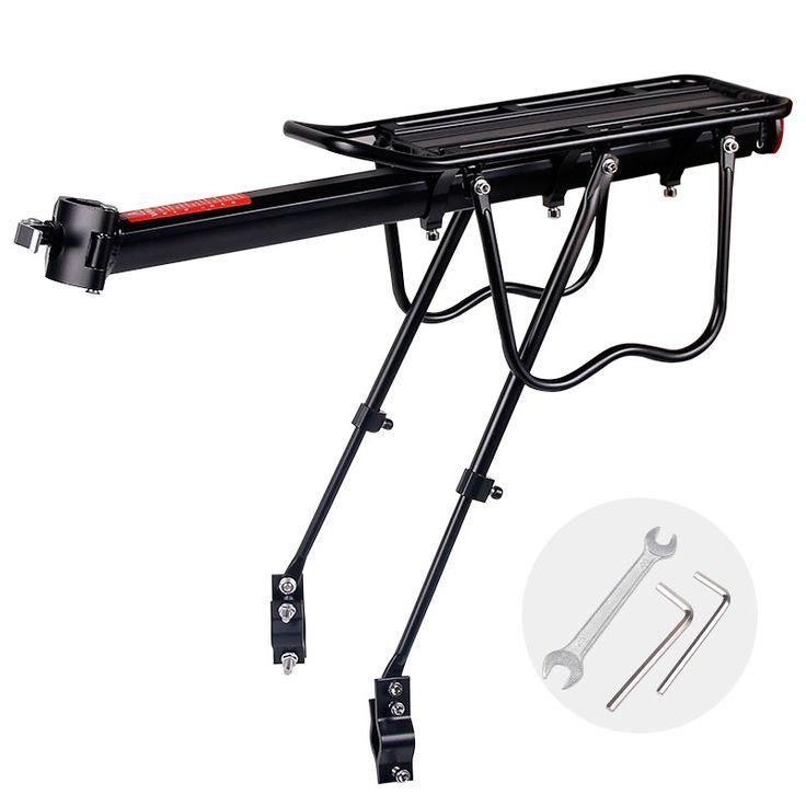 check discount 20 29 inch bicycle carrier bike luggage cargo rear rack aluminum alloy shelf saddle #disc #brakes #bike