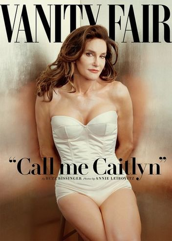 Bruce Jenner comes out as Caitlyn Jenner on the June 2015 cover of Vanity Fair