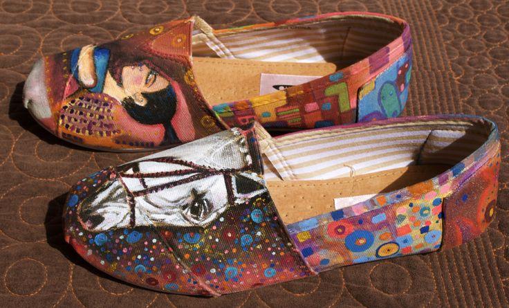 Alpargatas pintadas a mano  Inspiradas en el artista Cogollo