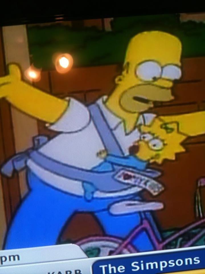 Homer wears Maggie in a Mei Tai! #babywearing