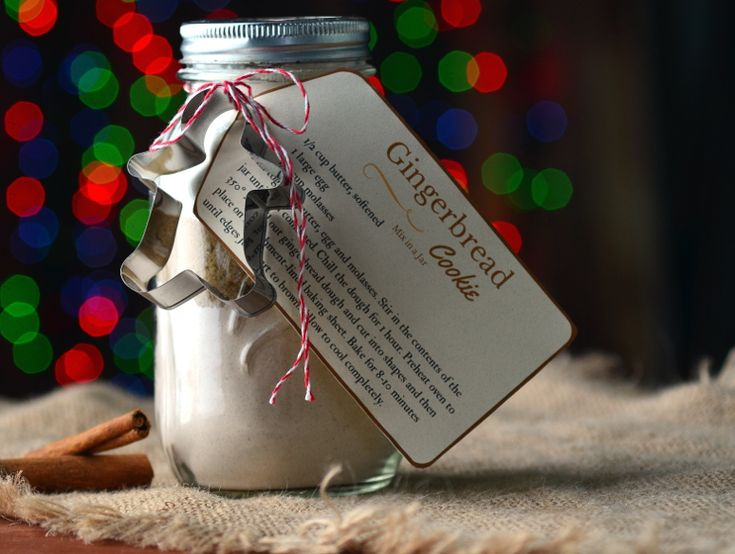 Gingerbread Cookie Mix in a Jar is a simple homemade Christmas gift that is perfect for teachers, neighbors & Co-workers.