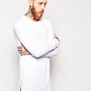 2015-new-arrival-longline-long-sleeve-t-shirt-extra-length-t-shirt-solid-tall-men-tshirt-with-zipper-to-the-hem-0