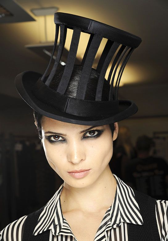 backstage at Jean Paul Gaultier haute couture