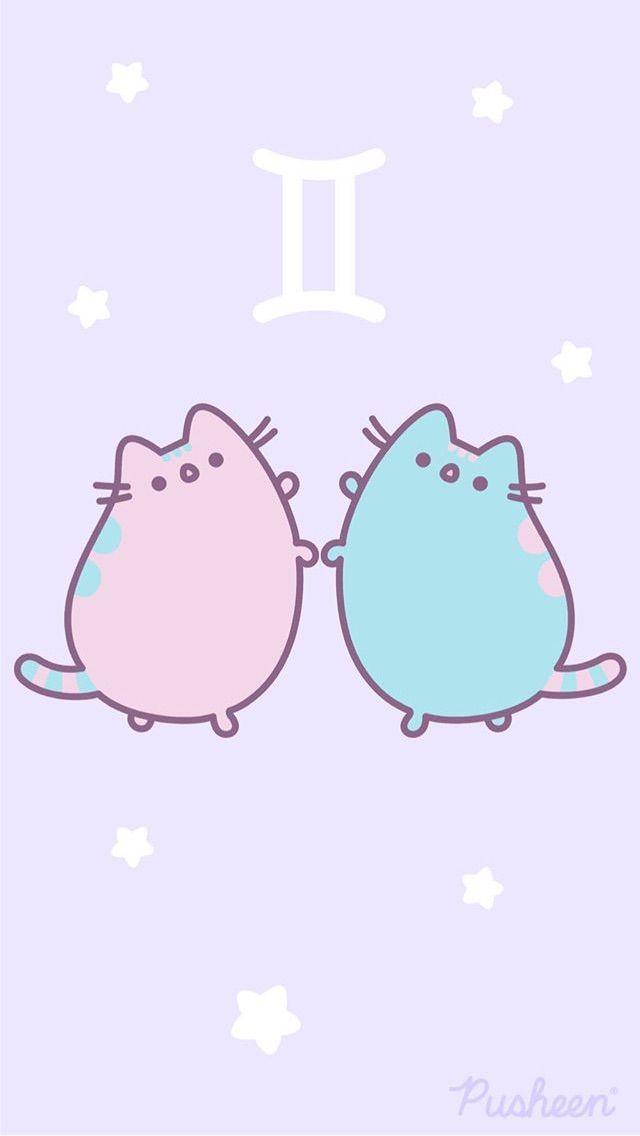 Gemini Pusheen Pusheen Cute Pusheen Cat Cute Wallpapers