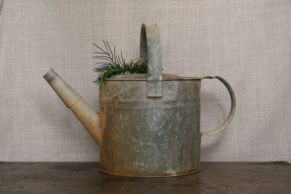 Big Old Willow Watering Can Galvanised Aluminium by FoundByHer, $30.00