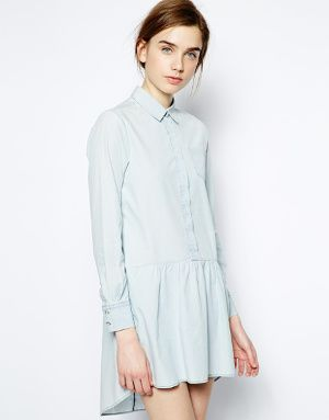 Robe chemise en chambray MiH Jeans