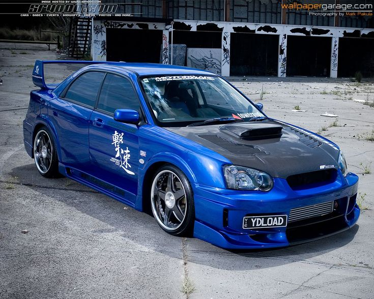 subaru impreza competition parts