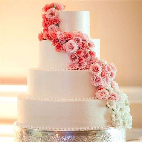 Ombre Floral Cake