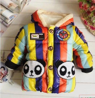 Boys  Girls Winter thickening male child outerwear plus velvet thermal child outerwear children's clothing outerwear