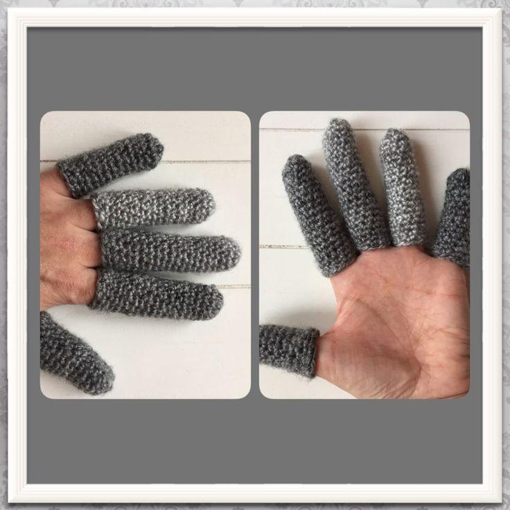 gehaakte handschoenen alle vingers
